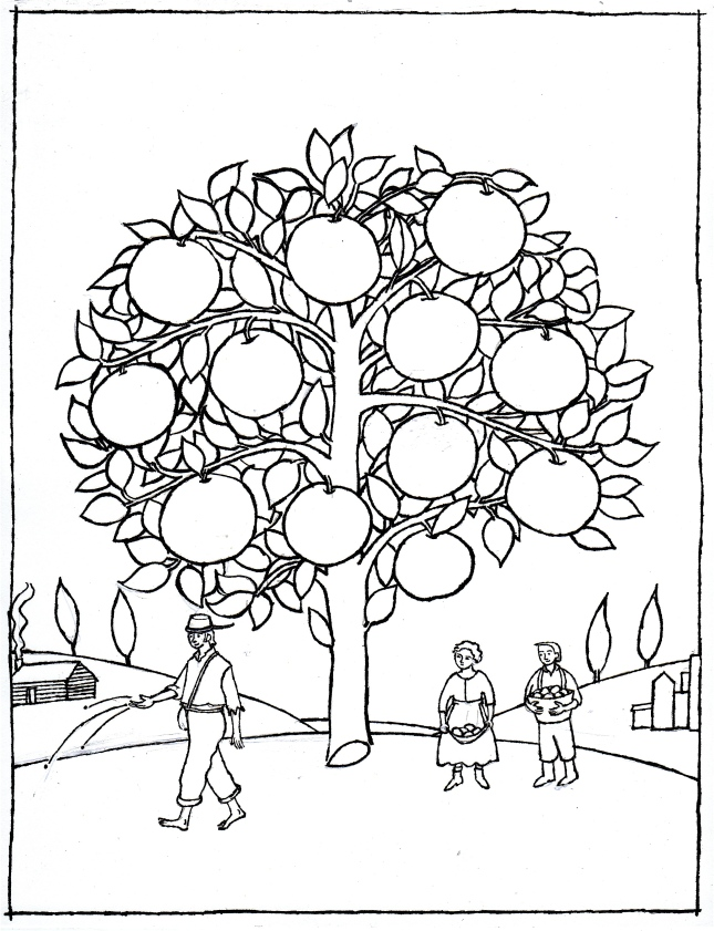 Coloring Pages Johnny Appleseed : Here is the johnny appleseed activity you ve been craving